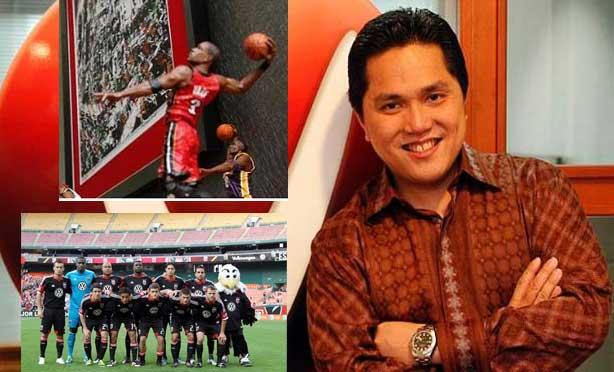 Erick Thohir, Mahaka, Republika, TvOne, NBA Philadelphia 76ers, DC United,